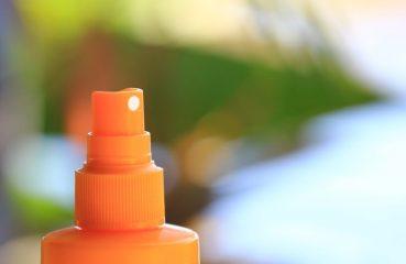 Spray crme solaire