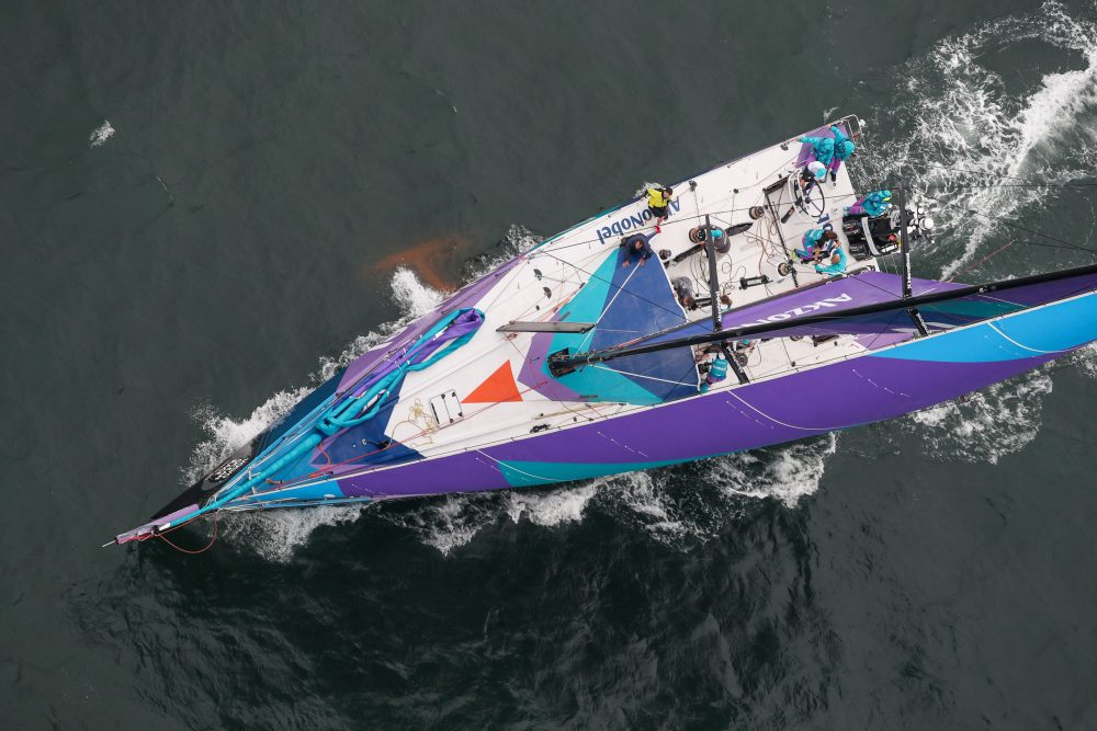 Melhores desde o começo, MAPFRE e Dongfeng Race Team conseguiram vantagem mesmo com vento instável Foto: Divulgação
