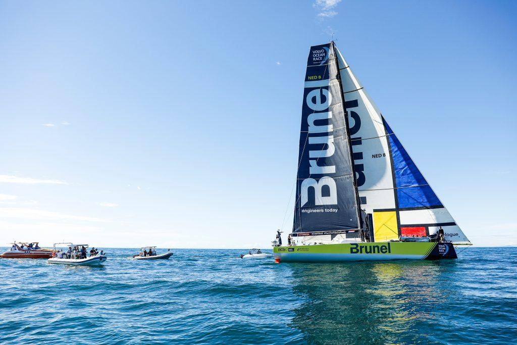 Chegada da sétima etapa no dia 03 de abril.   Foto: Ainhoa Sanchez/Volvo Ocean Race