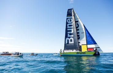 Chegada da sétima etapa no dia 03 de abril. | Foto: Ainhoa Sanchez/Volvo Ocean Race