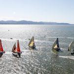 Os veleiros saíram de Itajaí rumo a Newport na tarde do último domingo (22)   Foto: Ainhoa Sanchez/Volvo Ocean Race