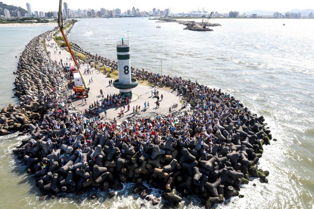 Público de Itajaí colocou mais de 400 mil pessoas na Vila da Regata de 5 a 22 de abril. | Foto: Ainhoa Sanchez/Volvo Ocean Race