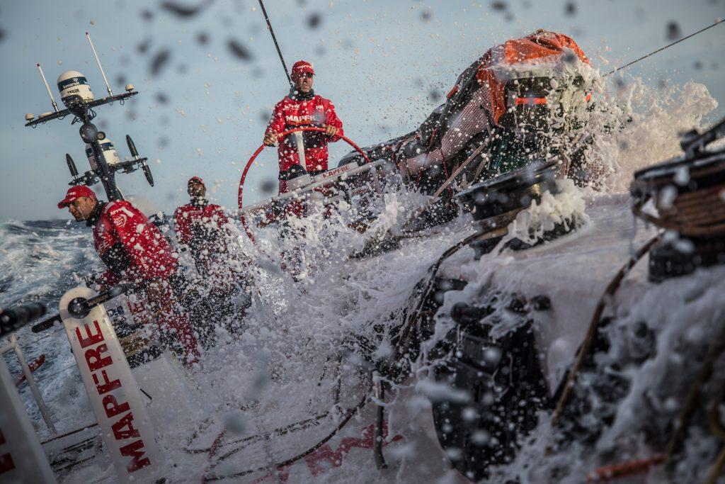 Equipe MAPFRE na oitava etapa da Volvo Ocean Race | Foto: Ugo Fonolla/Volvo Ocean Race