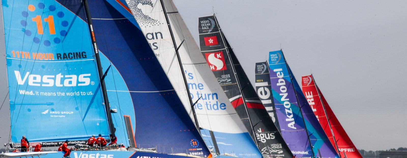 A nona etapa começou e velas parte para a Europa | Foto: Jesus Renedo/Volvo Ocean Race