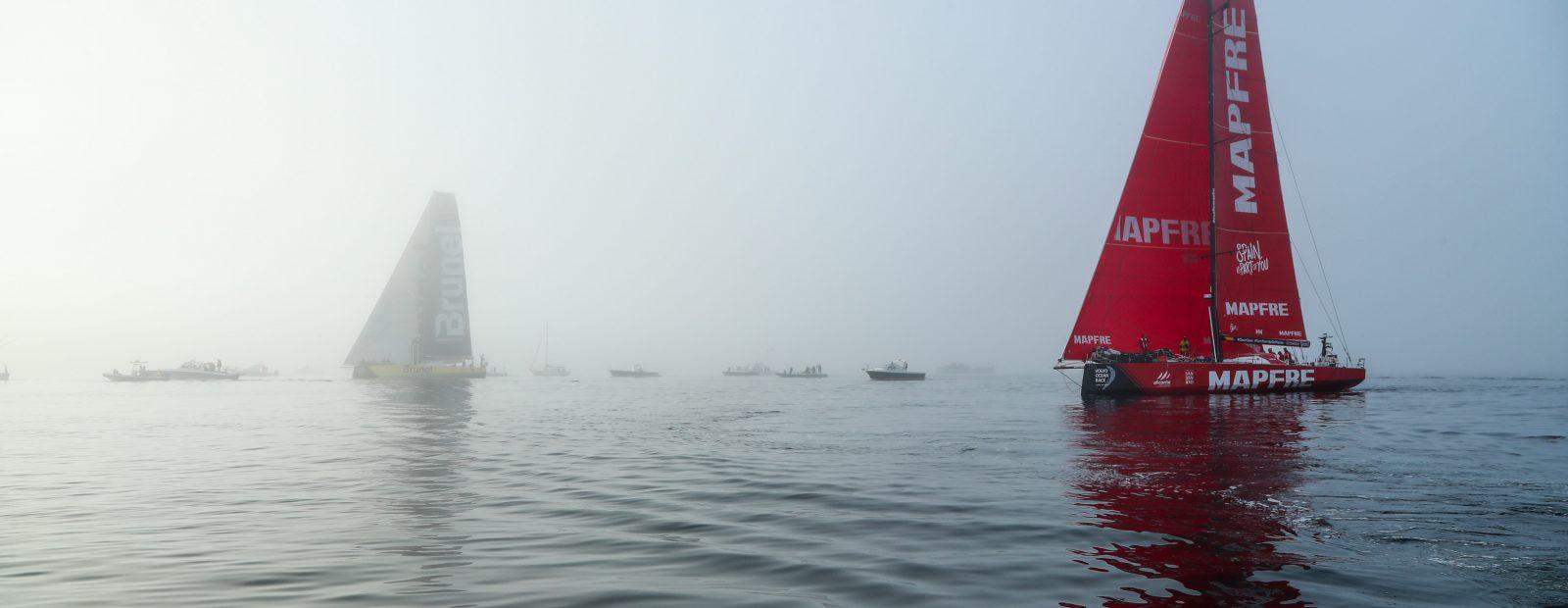 Em um último vitorioso fôlego, equipe MAPFRE ultrapassa e alcança a vitória | Foto: Jesus Renedo/Volvo Ocean Race