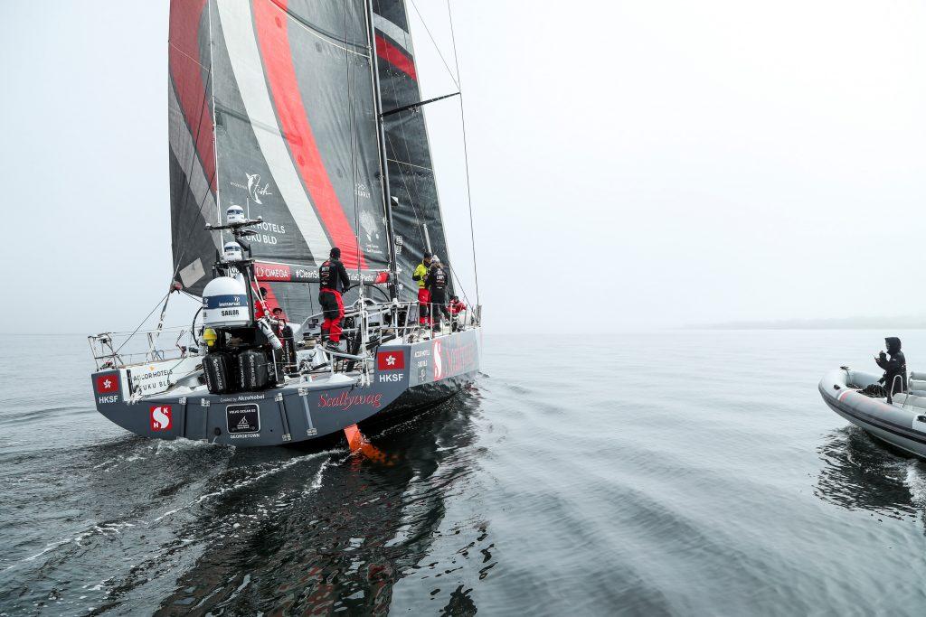 A equipe de Hong Kong, Scallywag foi a última a chegar em Newport com poucas horas de diferença | Foto: Jesus Renedo/Volvo Ocean Race