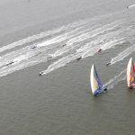 Velas chegando em Cardiff. | Foto: Jesus Renedo/Volvo Ocean Race
