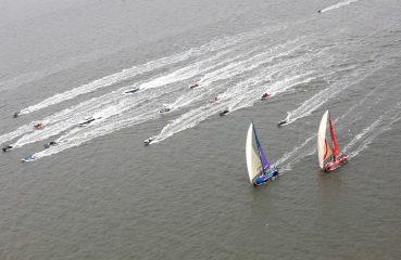 Velas chegando em Cardiff.   Foto: Jesus Renedo/Volvo Ocean Race
