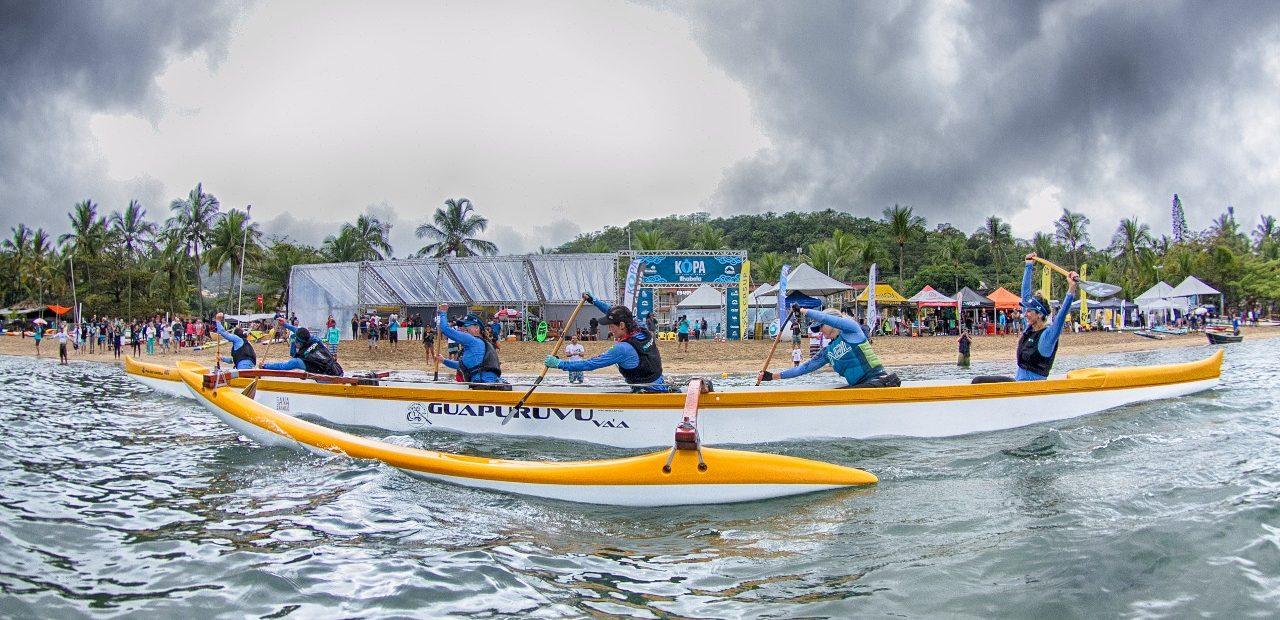 A arena do evento foi montada na Praia do Perequê. Foto: Alexandre Janoti / KOPA.