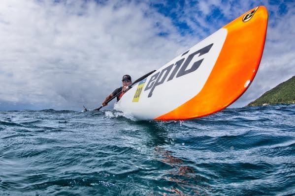 O Surfski individual serviu como etapa da Copa Brasil de Canoagem Oceânica. Foto: Alexandre Janoti/ KOPA.