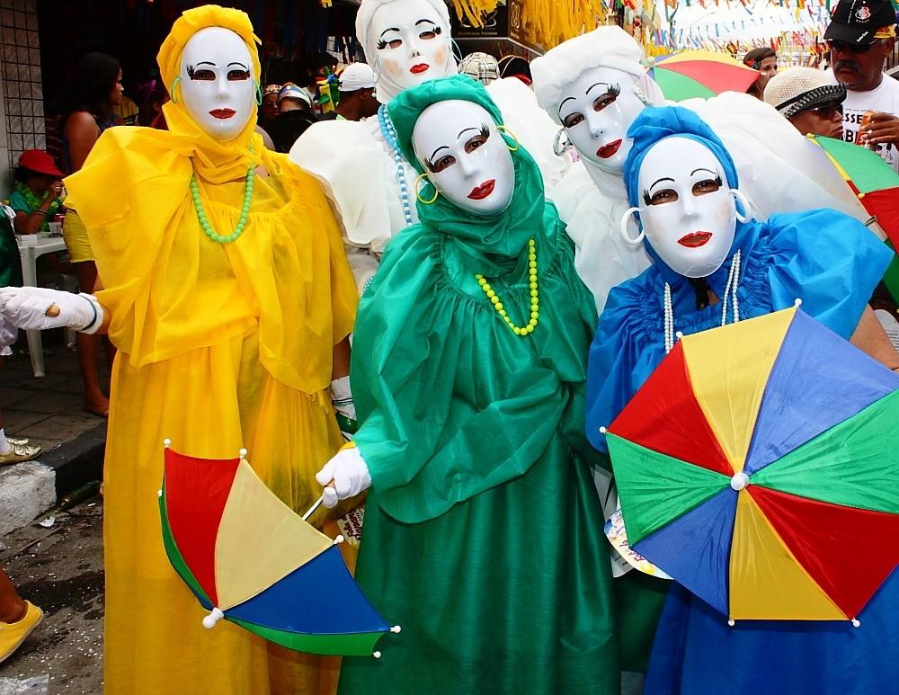 Foliões no Carnaval de Pernambuco Foto: Eduardo Andreassi