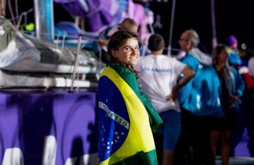 Time de Martine Grael chega em solo nacional na madrugada desta quinta feira (05). | Foto: Pedro Martinez/Volvo Ocean Race