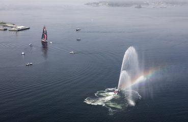 Os barcos em seu trajeto competitivo pelo globo coletaram informações sobre a poluição nos oceanos   Foto: Ainhoa Sanchez/Volvo Ocean Race