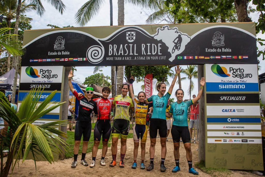 Pódio feminino da etapa (Wladimir Togumi / Brasil Ride)