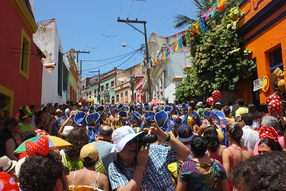 Foliões em Olinda Foto: Eduardo Andreassi