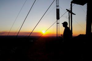 Pôr do sol no Morro de São Francisco. Foto: arquivo pessoal.