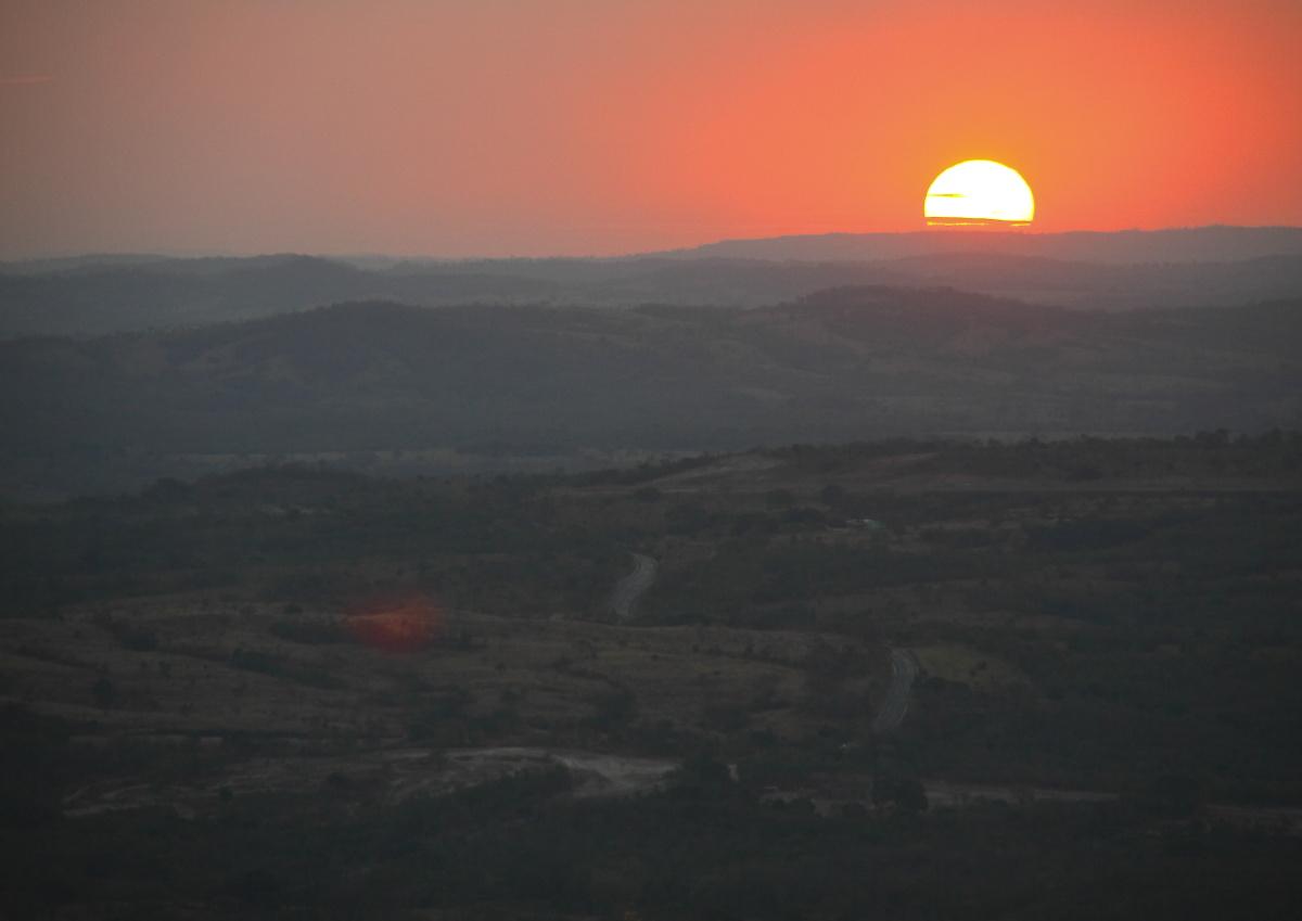 Pôr do sol no Morro de São Francisco. Foto: arquivo pessoal