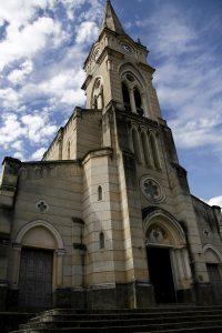 Igreja do Rosário dos Pretos construída em 1734, reconstruída em 1934 em estilo gótico. Foto: arquivo pessoal.