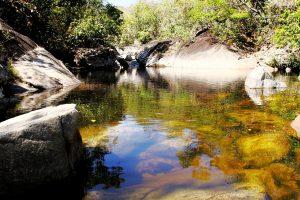 Santuário Ecológico Poço do Sucuri oferece piscinas naturais e infraestrutura de alimentação. Particular. Foto: arquivo pessoal.