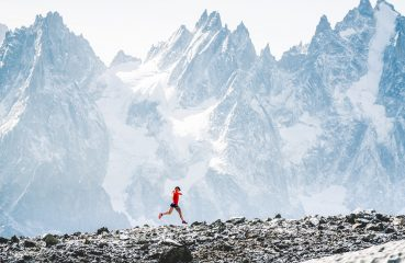 Fernanda Maciel runs in Chamonix, close to Mont-Blanc, in France, right before the 2018 Ultra Trail Mont Blanc. August 27, 2018. // Mathis Dumas / Red Bull Content Pool // AP-1WR2TAAQW2111 // Usage for editorial use only // Please go to www.redbullcontentpool.com for further information. //