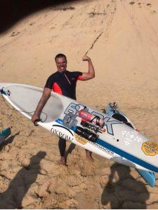 Patrick Winkler conclui a maior travessia de paddleboard da Europa - Foto: Divulgação